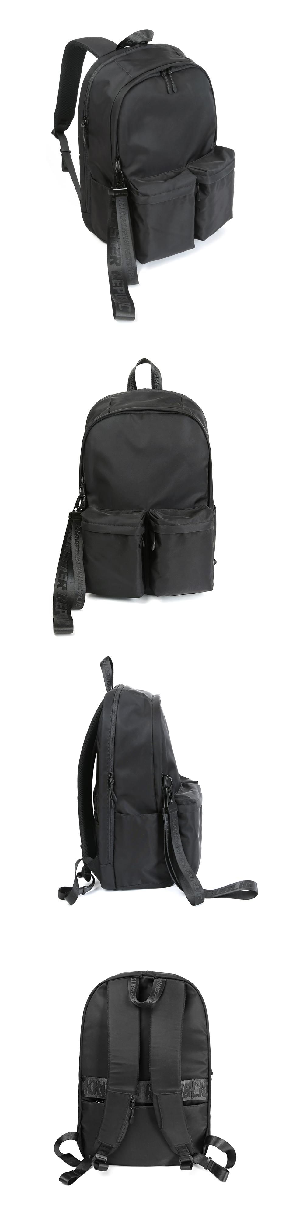 [사은품 증정] R.TWIN POCKET BACKPACK / BLACK