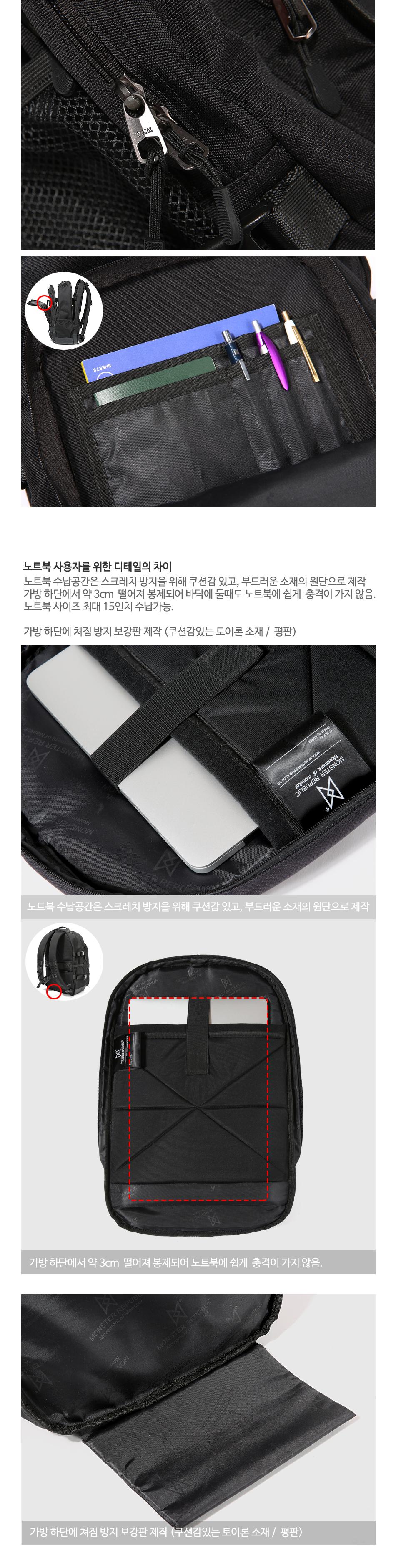[사은품 증정] MONSTER SCOTCH LOGO BACKPACK / BLACK