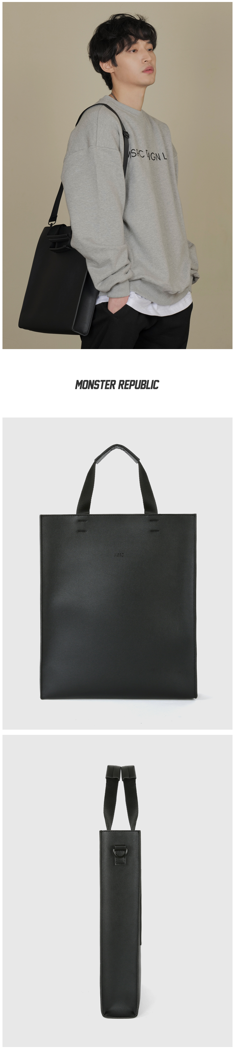 [사은품 증정] MSRC 007 TOTE BAG - MINI / BLACK