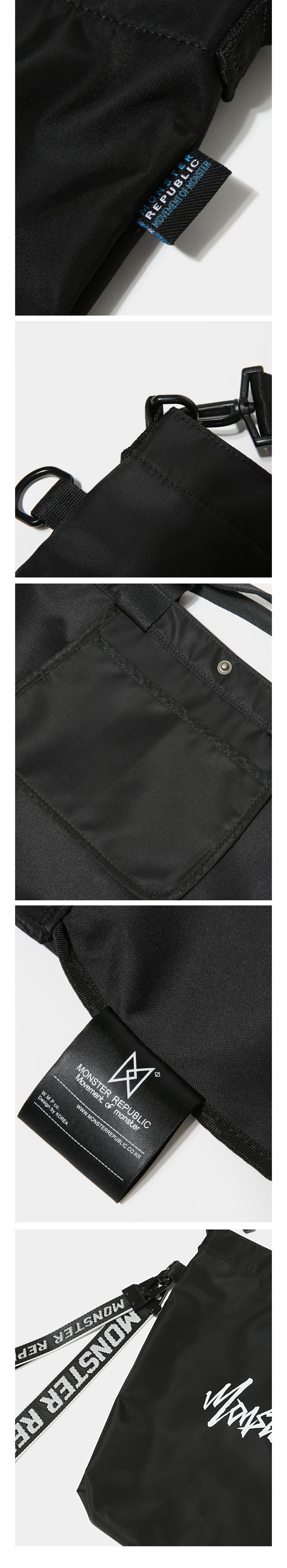[사은품 증정] MOVEMENT LOGO CROSS BAG / BLACK