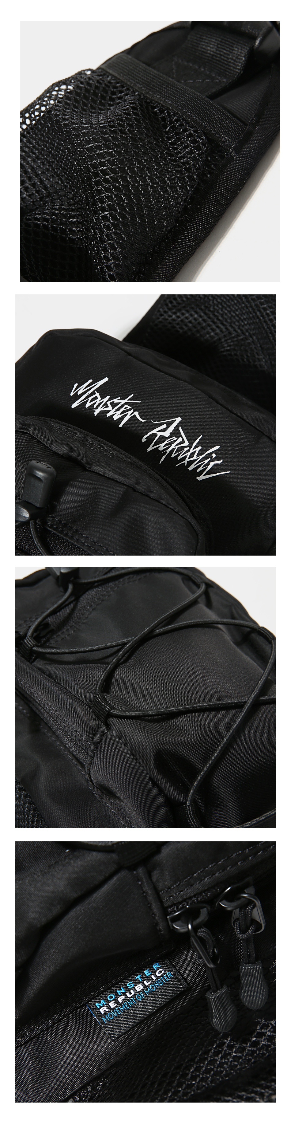 [사은품 증정] MOVEMENT LOGO SLING BAG / BLACK