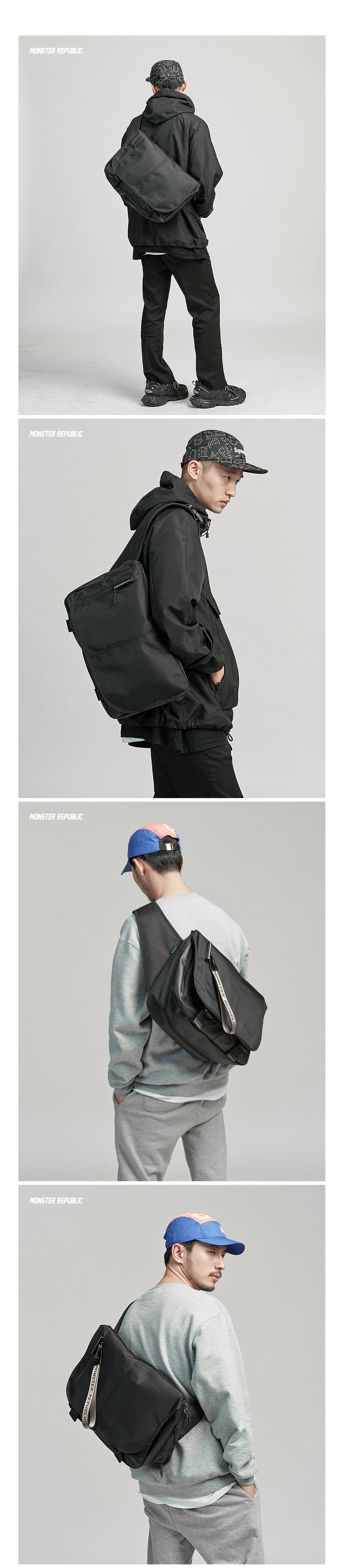 [사은품 증정] POTENTIAL MESSENGER BAG / BLACK